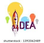 idea word with rocket instead...   Shutterstock .eps vector #1392062489