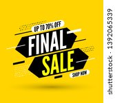 final sale banner  up to 70 ... | Shutterstock .eps vector #1392065339