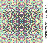 Card with colorful geometric mosaic