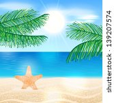 vector summer background... | Shutterstock .eps vector #139207574