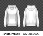 3d woman pullover hoodie or...   Shutterstock .eps vector #1392087023