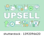 upsell word concepts banner....