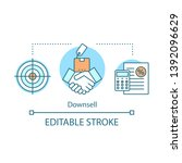 downsell concept icon. sale...   Shutterstock .eps vector #1392096629