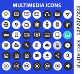 big multimedia icon set  trendy ...