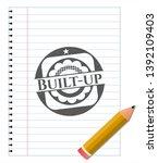built up pencil emblem. vector... | Shutterstock .eps vector #1392109403