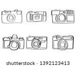 continuous line art or one line ... | Shutterstock .eps vector #1392123413