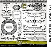 vintage design elements ... | Shutterstock .eps vector #139214624