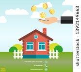 hand putting dollar coin....   Shutterstock .eps vector #1392149663