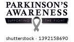 parkinson's disease awareness... | Shutterstock .eps vector #1392158690