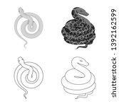 vector illustration of mammal... | Shutterstock .eps vector #1392162599
