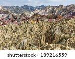 valle de la luna in la paz... | Shutterstock . vector #139216559