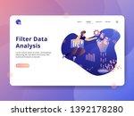 landing page filter data...