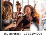 group of male and female... | Shutterstock . vector #1392194003