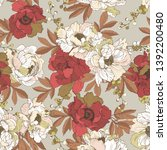 floral seamless pattern with a ...   Shutterstock .eps vector #1392200480
