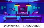 recreation room for leisure... | Shutterstock .eps vector #1392229820