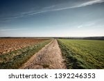 a long and stony path to the... | Shutterstock . vector #1392246353