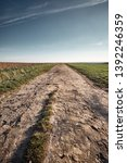 a long and stony path to the... | Shutterstock . vector #1392246359