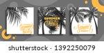summer party cards set.... | Shutterstock .eps vector #1392250079