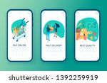 grocery shop concept templates... | Shutterstock .eps vector #1392259919