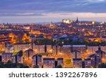edinburgh skylines building and ... | Shutterstock . vector #1392267896