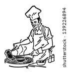 barbecue chef   retro clip art... | Shutterstock .eps vector #139226894
