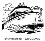 cabin cruiser   retro clip art...   Shutterstock .eps vector #139226909