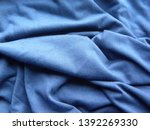 blue color cotton cloth with... | Shutterstock . vector #1392269330