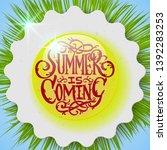 summer decorative template for... | Shutterstock .eps vector #1392283253