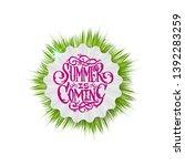 summer decorative template for... | Shutterstock .eps vector #1392283259