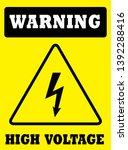 warning high voltage  board in... | Shutterstock .eps vector #1392288416