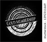 gold membership with chalkboard ... | Shutterstock .eps vector #1392311669