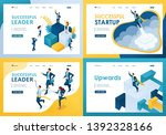 set design web page templates... | Shutterstock .eps vector #1392328166