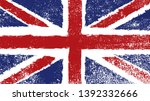 grunge textured uk flag.vintage ... | Shutterstock .eps vector #1392332666