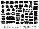 brush strokes. vector... | Shutterstock .eps vector #1392332759