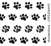 Stock vector pattern trail of a cat kitten puppy dog print 1392336443