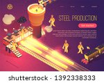 steel production banner with... | Shutterstock .eps vector #1392338333