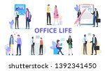 office life group man woman... | Shutterstock .eps vector #1392341450