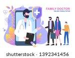 family doctor online...   Shutterstock .eps vector #1392341456