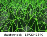 triangle polygon surface with... | Shutterstock . vector #1392341540