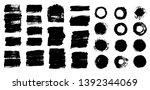 brush strokes. vector... | Shutterstock .eps vector #1392344069