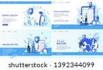online doctor world health day... | Shutterstock .eps vector #1392344099