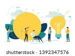 alternative renewable energy... | Shutterstock .eps vector #1392347576