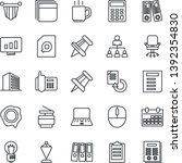 thin line icon set   office... | Shutterstock .eps vector #1392354830