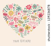 bright heart made of flowers in ... | Shutterstock .eps vector #139236878