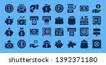 wealth icon set. 32 filled... | Shutterstock .eps vector #1392371180