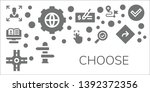 choose icon set. 11 filled... | Shutterstock .eps vector #1392372356