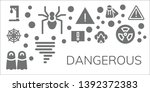 dangerous icon set. 11 filled... | Shutterstock .eps vector #1392372383