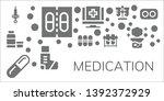 medication icon set. 11 filled... | Shutterstock .eps vector #1392372929