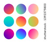 round gradients spheres. set of ...