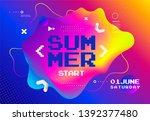 summer start fest poster. cover ...   Shutterstock .eps vector #1392377480